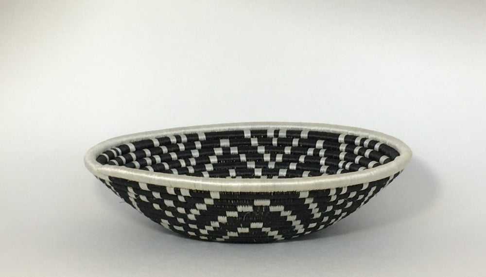 Image of Hand Woven Basket | Black & White (Large)