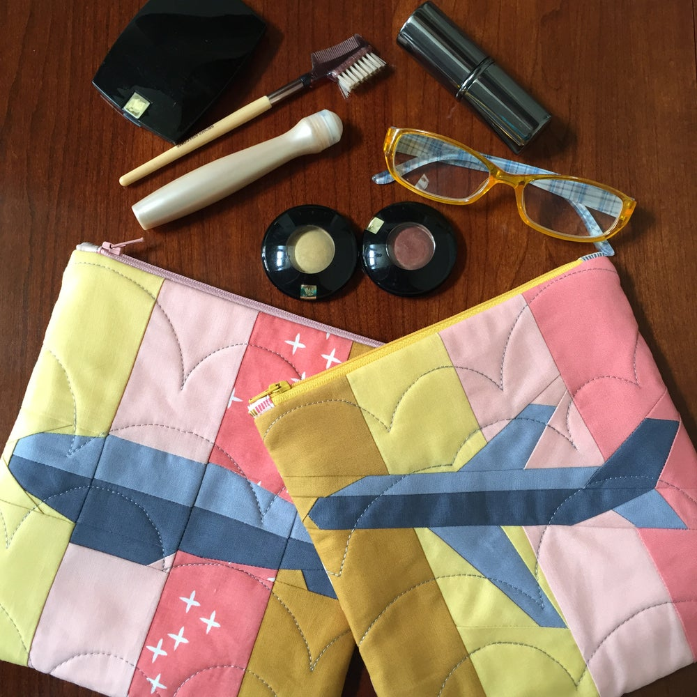"Image of Aero and Blimpy Quilt Blocks 8"" x 8"""