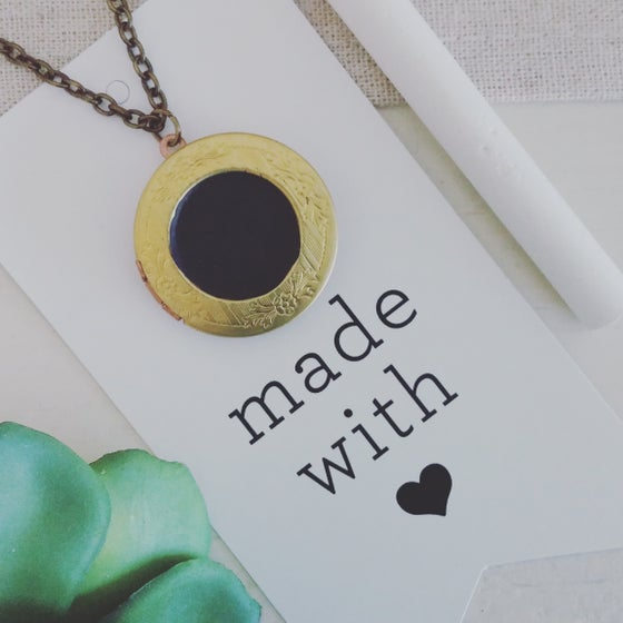 Image of Chalkboard Locket Necklace