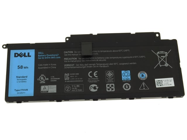 Image of New,Dell F7HVR Battery,£79.99,Original Dell F7HVR Battery,Genuine Dell F7HVR Battery.