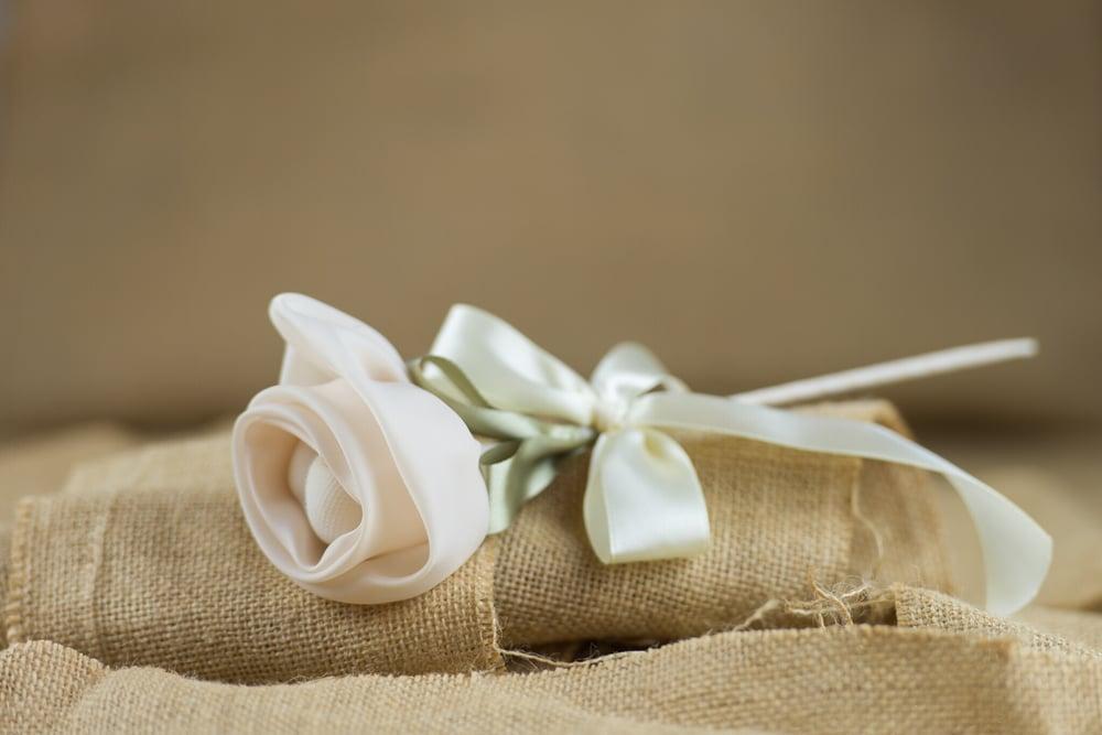 Image of Rose flower stem - bomboniere/wedding favours