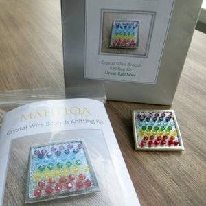 Image of LINEAR RAINBOW - Crystal Brooch Knitting Kit