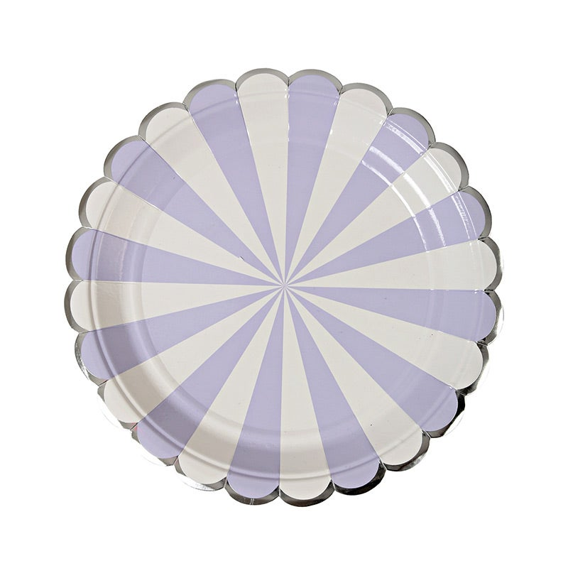 Image of Striped Lavender Plate - Small