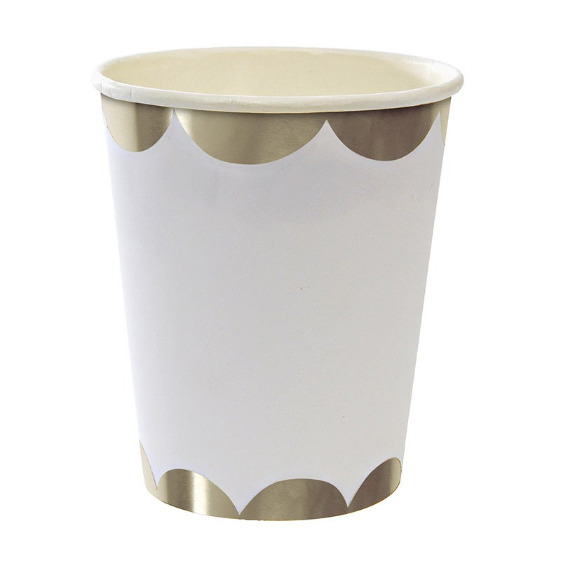 Image of Silver Scallop Party Cup