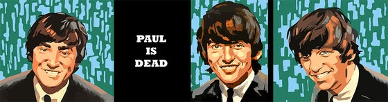 Image of Paul is Dead~10 in. X 38 in. canvas print~150.00 USD Free Shipping