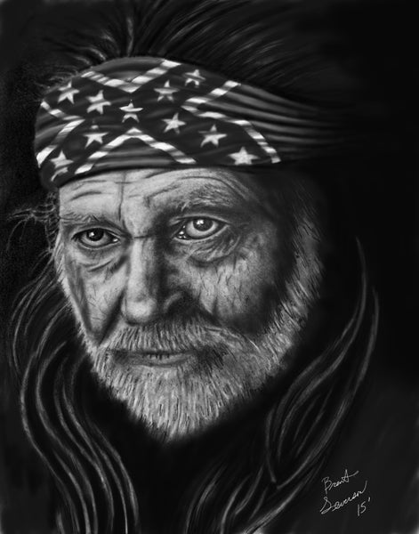 Image of Willie Nelson Confederate Flag bandana