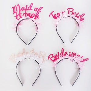 Image of Party Up Top Headbands:  Bridal Pack