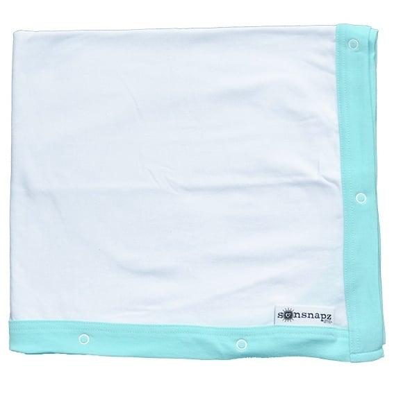 "Image of Sunsnapz Baby Blanket ""AQUA"""