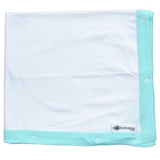 "Image of Sunsnapz Baby Blanket ""AQUA"""