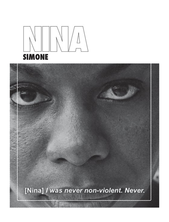 "Image of Nina Simone ""Never Been Non-Violent"""