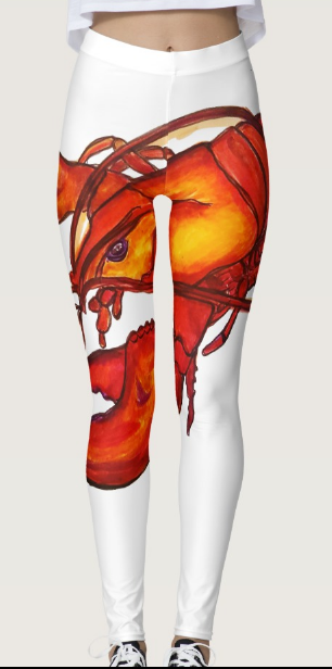 Image of Lobster Leggings White