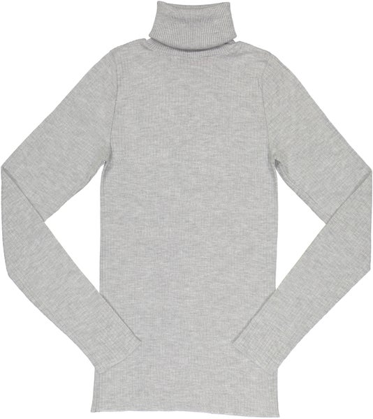 Image of TURTLENECK rib~ Heather Grey