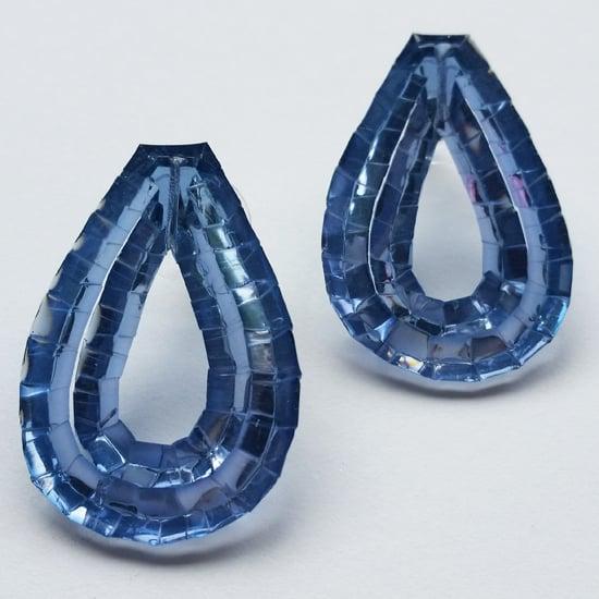 Image of Rain Stud Earrings - Petrol