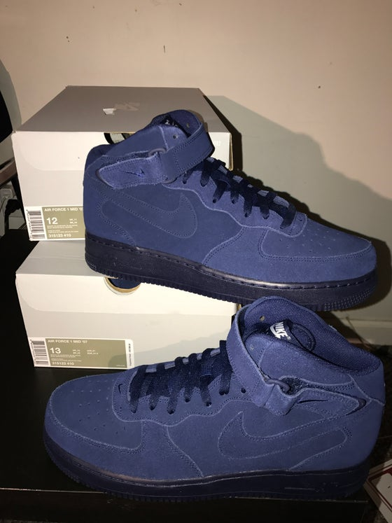 "Image of Nike Air Force 1 Mid ""Binary Blue"""