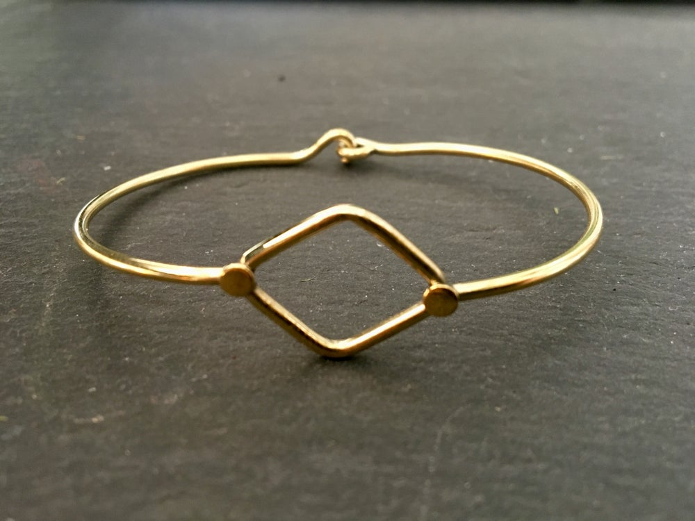 Image of Geometrical bracelet Round or Diamond