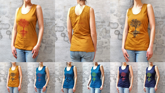 Image of Top t-shirt (female) (100% Fair Trade & Eco) + free download EP 'On a Sunday'