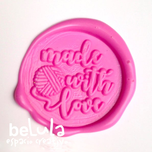 Image of Sello de lacre: Made with love ovillo lana