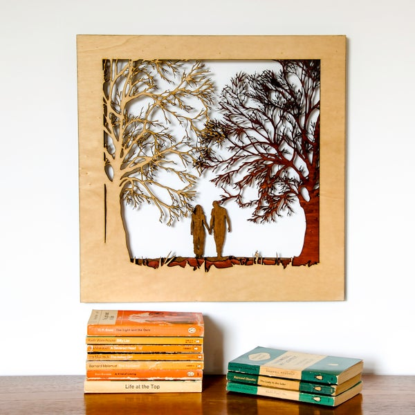 Image of Couple In The Forest