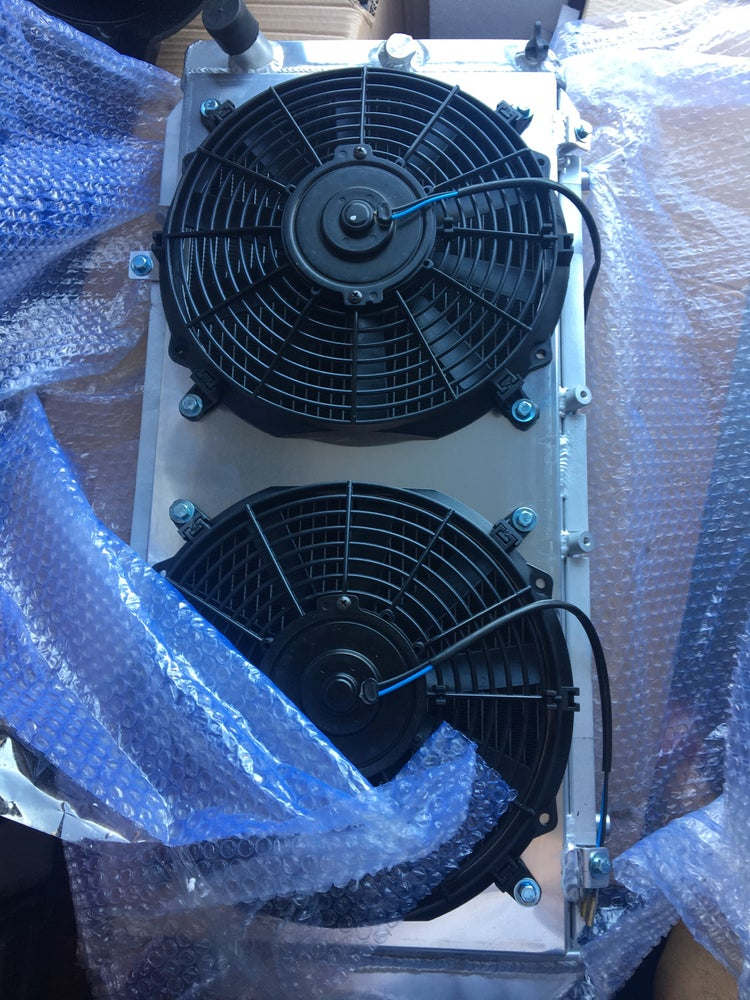 Image of 91-99 MR2 MK2 SW20 Aluminum Radiatior and dual spal fan