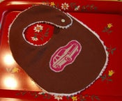 Image of Retro Car BIB on organic cotton