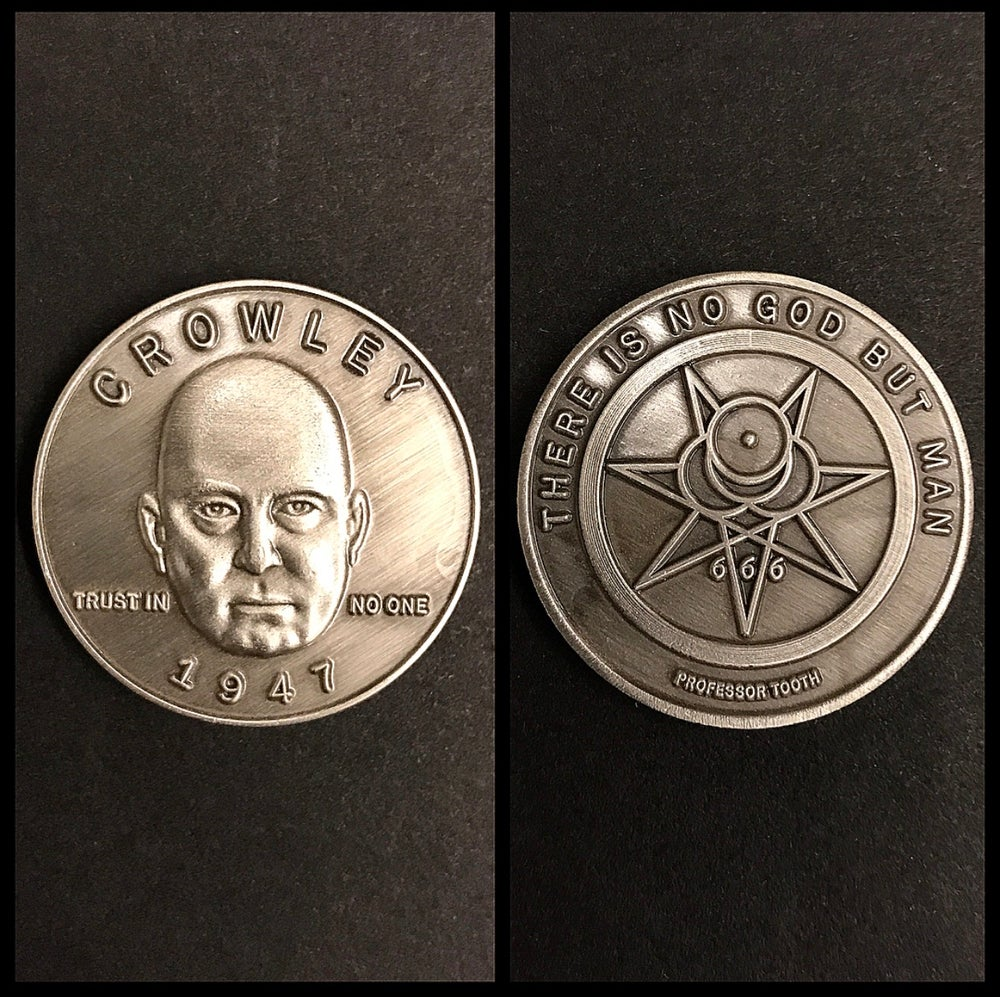 Image of Occultist Aleister Crowley Coin