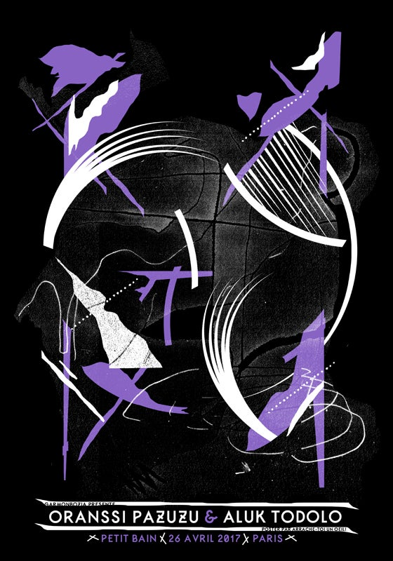 ORANSSI PAZUZU & ALUK TODOLO (2016) screenprinted poster