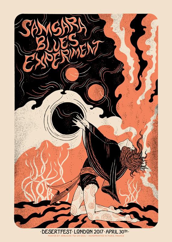 SAMSARA BLUES EXPERIMENT (Desertfest London 2017) screenprinted poster