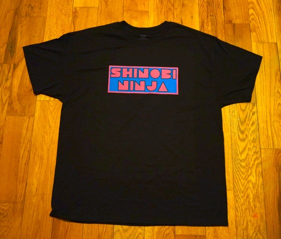 Image of Black Shinobi Ninja Logo Front - Ninja Mouse Back