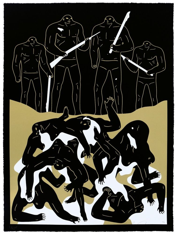 "Cleon Peterson - ""The Genocide Judgement"" - Black"