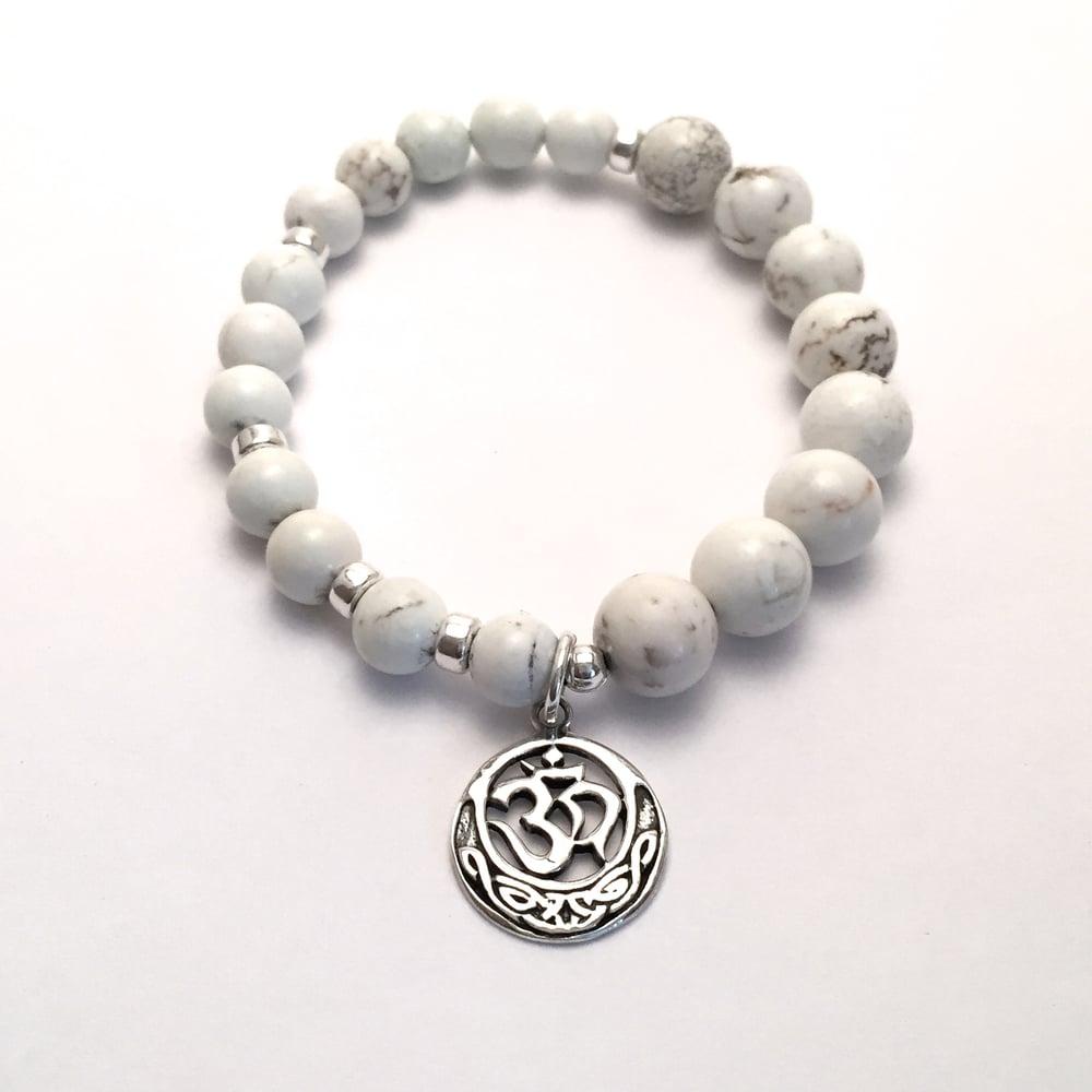 Image of Howlite Infinity Wrist Mala