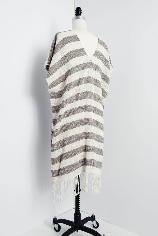 Image of Alpaca/Cotton Striped Poncho