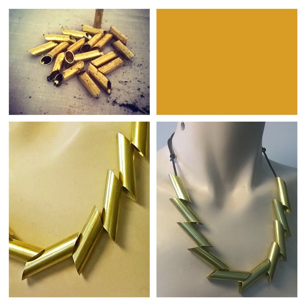 Image of QUILL Brass Necklace