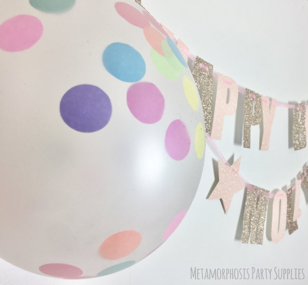 Image of Personalised Confetti filled balloons