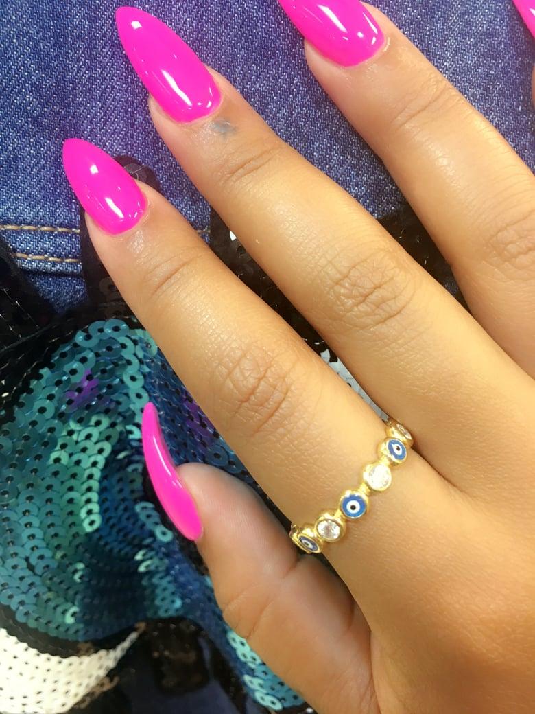 Image of Blue Eyed Diamond ring