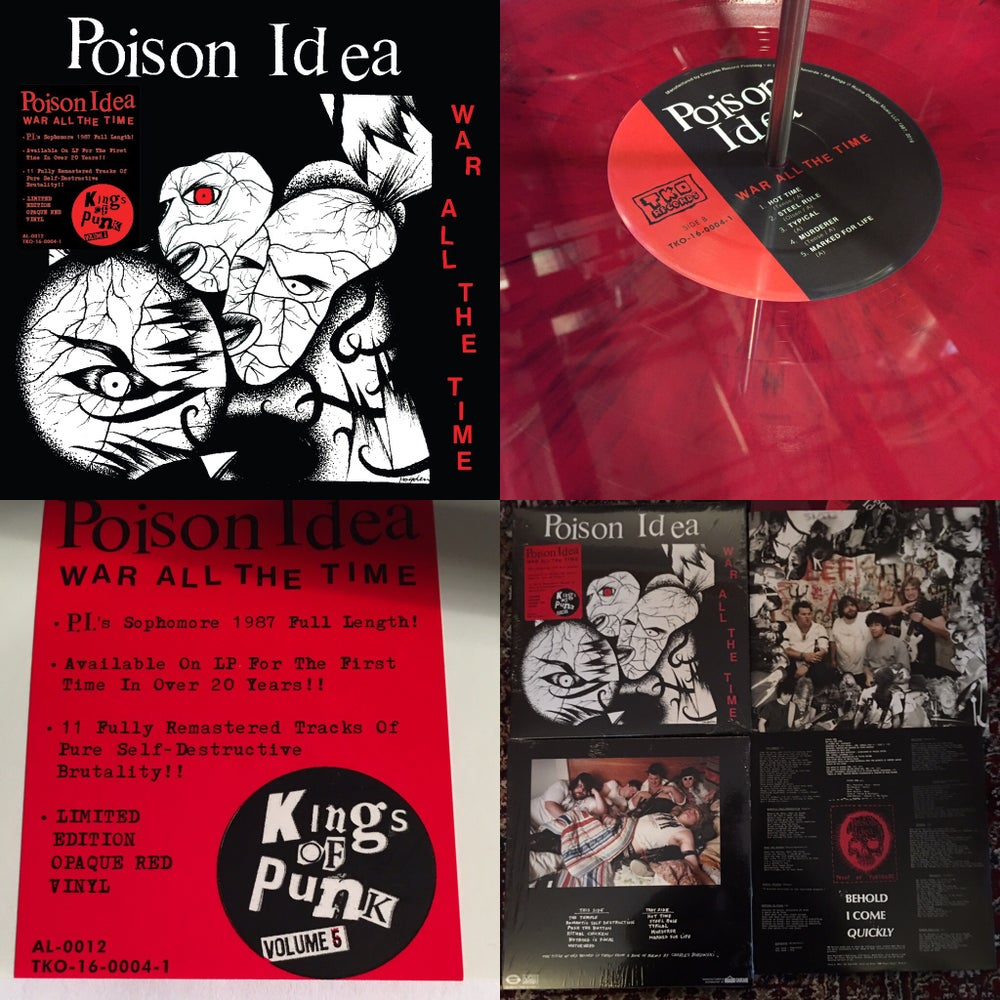 "Image of Poison Idea-""War All The Time"" 2016 Reissue/Remastered"