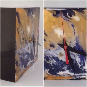 Image of Art Clock - Purple and Gold