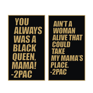 Image of 2Pac Mother's Day Tribute Pin