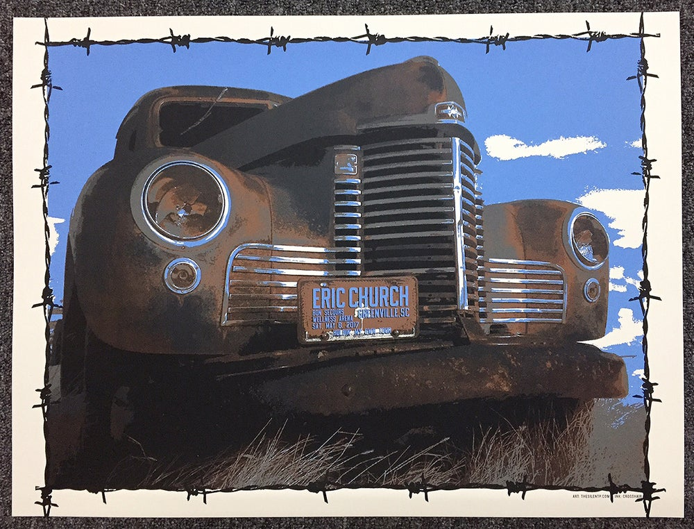 "Eric Church ""Trusty Rusty"" Truck Poster"