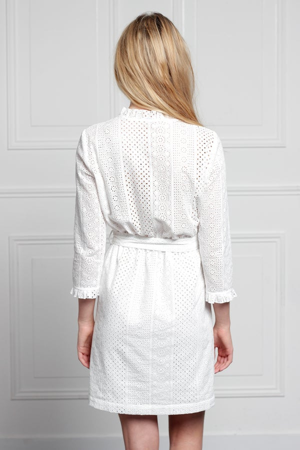 Robe Audrey Broderie 235€  -70% - Maison Brunet Paris