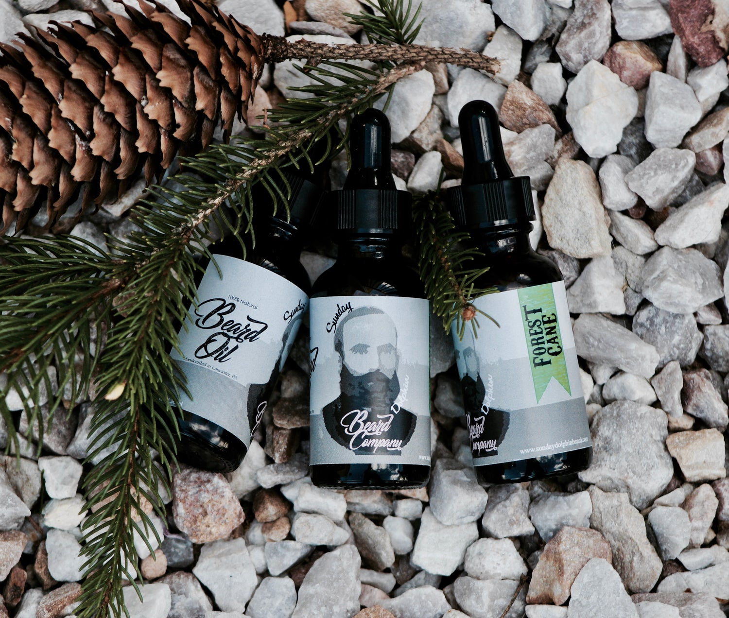 Image of Sunday Dolphin Beard Co. Forest Cane Beard Oil 100% Natural and Organic