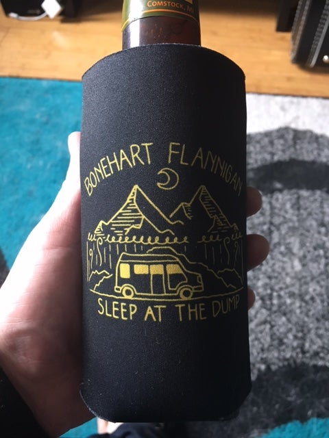 "Image of ""Sleep At The Dump"" Koozie"