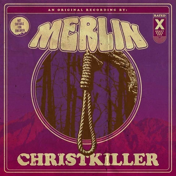 Image of Merlin - Christkiller: opaque purple w/white splatter