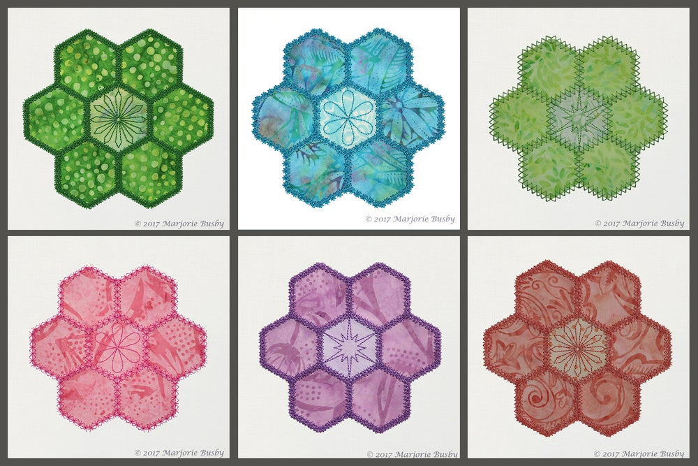 Image of Grandmother's Flower Garden Hexies