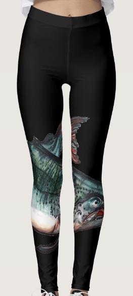 Image of Salmon Leggings Black