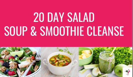 Image of 20 Day Salad Soup & Smoothie Recipe Book