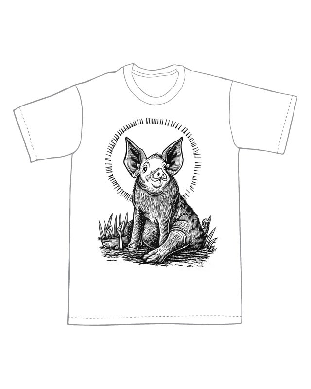 Pig in the Mud T-shirt (B3)**FREE SHIPPING**