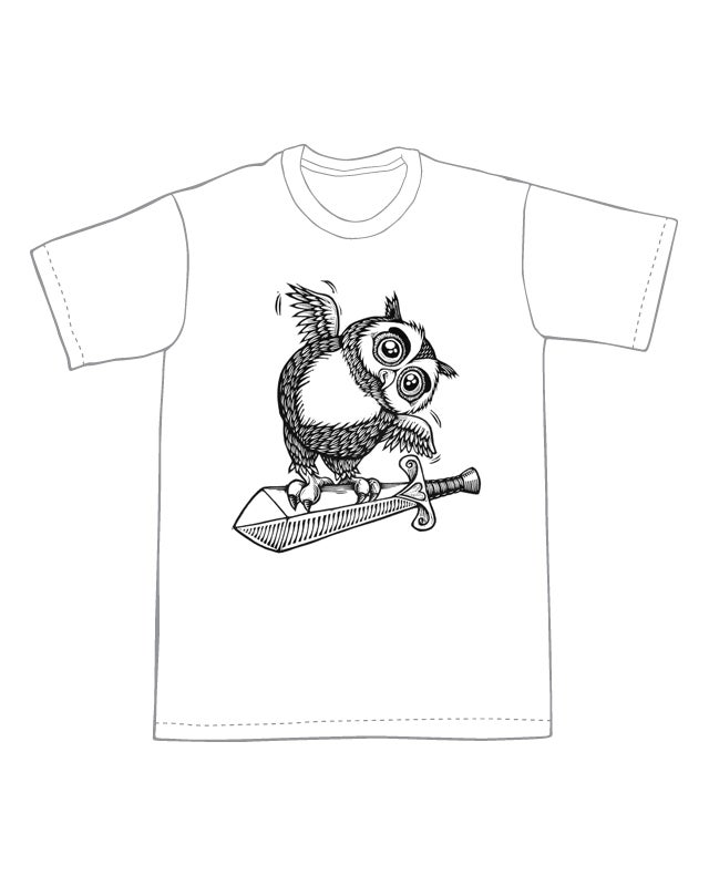 The Sword and the Owl T-shirt (A3) **FREE SHIPPING**