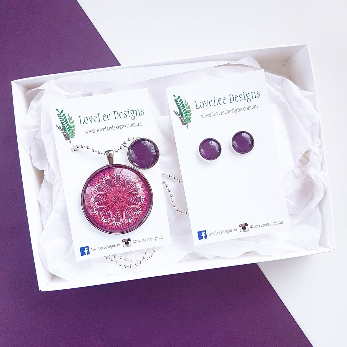 Image of Gift Set - Purple Moroccan Circle