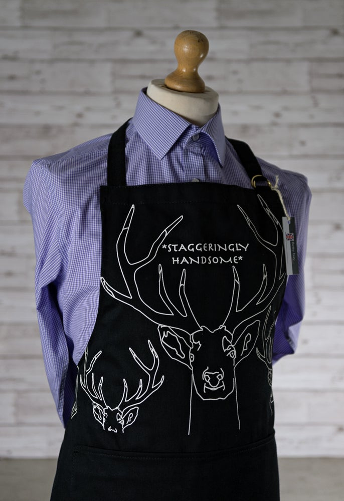 Image of Staggeringly Handsome Black Apron