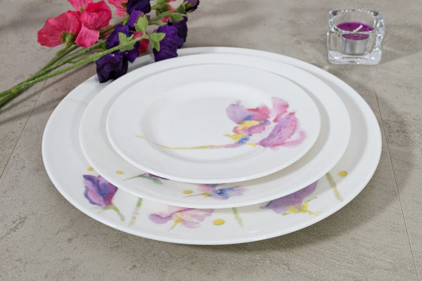 Image of Sweet Pea English Fine Bone China Tea Plate